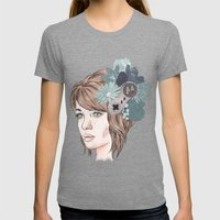 16 Bit Womens Fitted Tee Tri-Grey SMALL