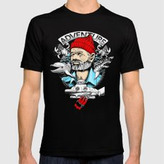 Adventure with Dynamite SMALL Black Mens Fitted Tee