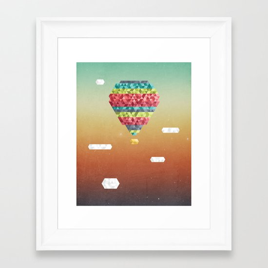 Triangular Skies Framed Art Print