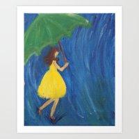 Umbrella Ella Ella Art Print