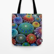 Jewel Drop Mandala Stone… Tote Bag