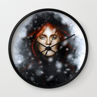 KISSED BY FIRE Wall Clock