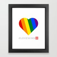 #LoveWins Framed Art Print