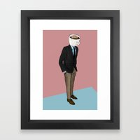 IT'S MORNING AND I THINK… Framed Art Print