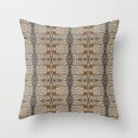 Natural Mosaic Collage 5 Throw Pillow