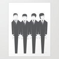 The Fab Four Art Print