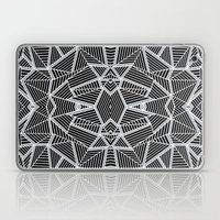 Abstract Lines Black and Silver M Laptop & iPad Skin