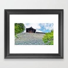 High Up Framed Art Print