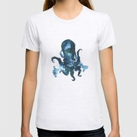Oceanic Octo Womens Fitted Tee Ash Grey SMALL