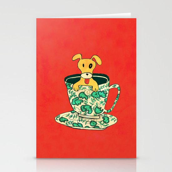 Dinnerware Sets - puppy in a teacup Stationery Card