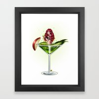 Poison Apple Martini Framed Art Print