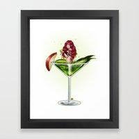 Poison Apple Martini Framed Art Print