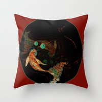 Poissons Throw Pillow