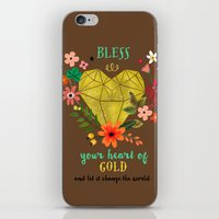 Bless your Heart of Gold iPhone & iPod Skin