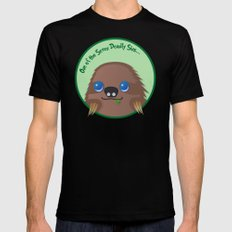 Adorable Sloth SMALL Black Mens Fitted Tee