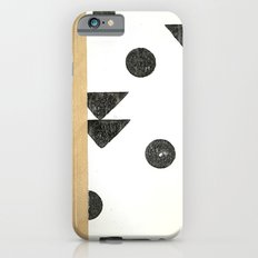 Black and white shapes iPhone 6 Slim Case