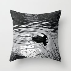 Lonely Duck Throw Pillow