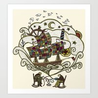 My Father was a Sailor, and My Mother, a Quilter Art Print