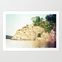 north rock Art Print