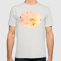 Just Peachy Mens Fitted Tee Silver SMALL