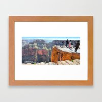 The Edge at Eagle Point Framed Art Print