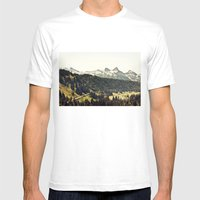 Epic Drive through the Mountains Mens Fitted Tee White SMALL