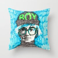 BOY - Andy Warhol Cultur… Throw Pillow