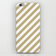 Diagonal Stripes (Sand/White) iPhone & iPod Skin