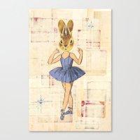 Bunny Ballerina Canvas Print