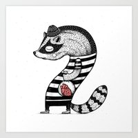 Heart thief Art Print