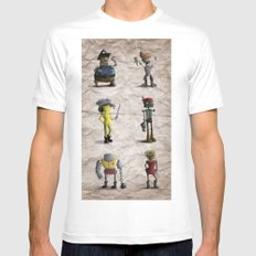 The Crew SMALL White Mens Fitted Tee
