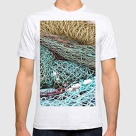FISHING NET Mens Fitted Tee Ash Grey SMALL