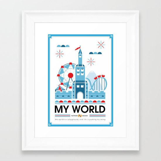 My world Framed Art Print