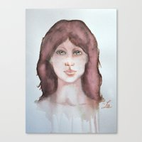 Watercolor smile Canvas Print