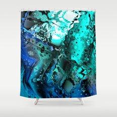 Escape The Hive (aqua Bl… Shower Curtain