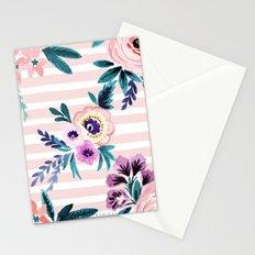 Victoria Blushing Stripe Stationery Cards