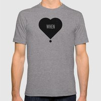When Mens Fitted Tee Athletic Grey SMALL