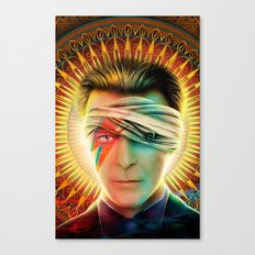 Bowie comic book Tribute cover Canvas Print