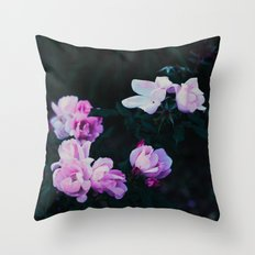 pastel roses Throw Pillow