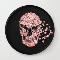 Wall Clock featuring A Beautiful Death  by Terry Fan