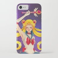 sailor moon iPhone & iPod Cases featuring Sailor moon by Tae V