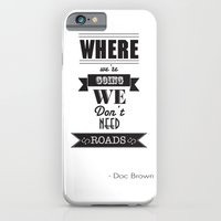 back to the future iPhone & iPod Cases featuring back to the future by christopher-james robert warrington