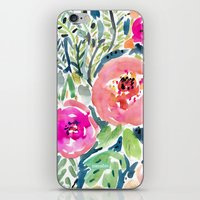 Peach Floral iPhone & iPod Skin