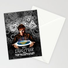 What if The Doctor who says that the earth is FLAT? Stationery Cards