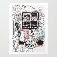Broken Parts Art Print