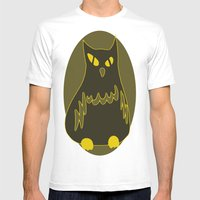 Owlie Mens Fitted Tee White SMALL