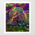 Wrapped in natures warm embrace the heart can seek a higher place Art Print