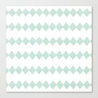 Green Diamonds Canvas Print