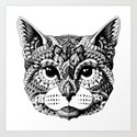 Cat Head Art Print