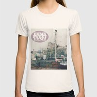 HOME SWEET HOME SERIES Womens Fitted Tee Natural SMALL